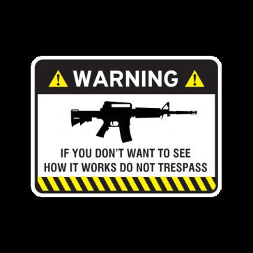Warning Trespasser Sign 14039