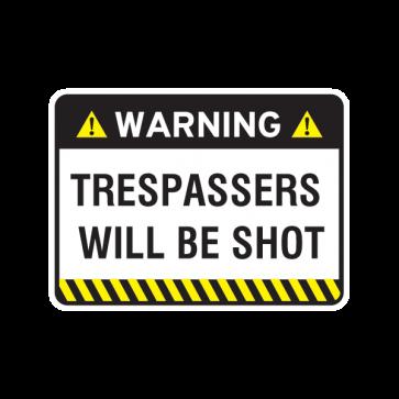 Warning Trespasser Sign 14045