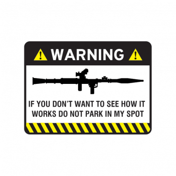 Warning Parking Sign 14048