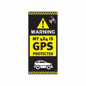 Gps Protected Prevention Sign 4x4 14058