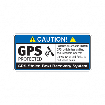 Gps Protected Prevention Sign Boat 14067