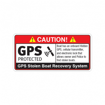 Gps Protected Prevention Sign Boat 14071