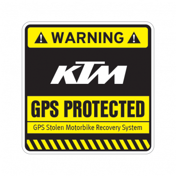 Gps Protected Prevention Sign Ktm 14077