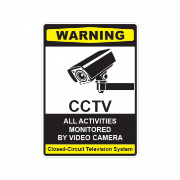 Warning Cctv All Activities Monitored By Video Camera 14120