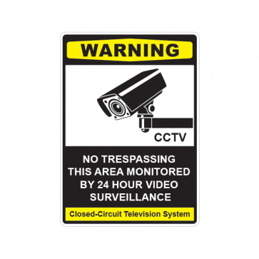 No Trespassing This Area Monitored By 24 Hour Video Surveillance 14121