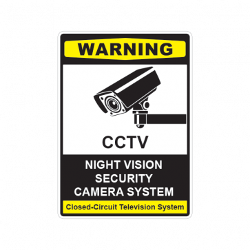 Cctv Night Vision Camera Sign 14129