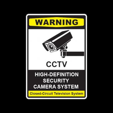 Cctv High-Definition Cameras Sign 14131