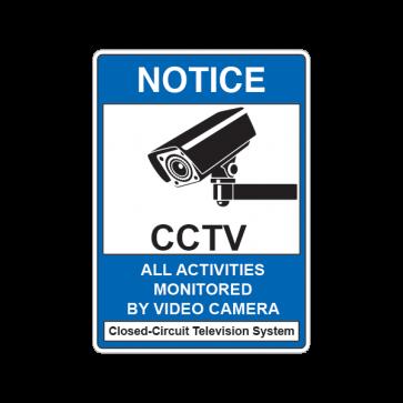 Notice All Activities Monitored  Cctv 14134