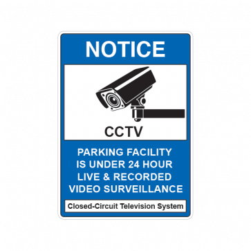 Notice Parking Camera Sign 14136