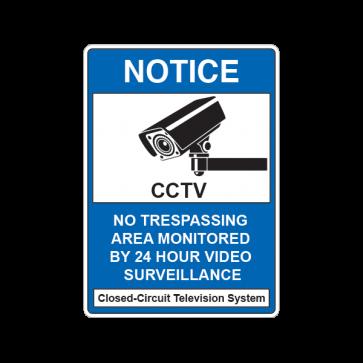 Cctv No Trespassing Camera Sign 14138