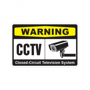 Warning Cctv Video Surveillance Closed-Circuit Television System 14142