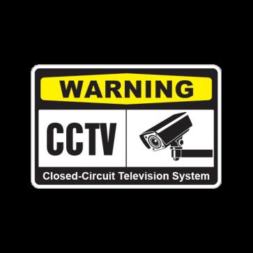 Warning Cctv Video Surveillance 14144