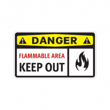 Danger Flammable Area Keep Out 14214
