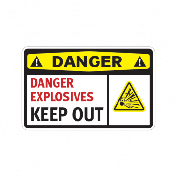 Danger Explosives Keep Out 14216