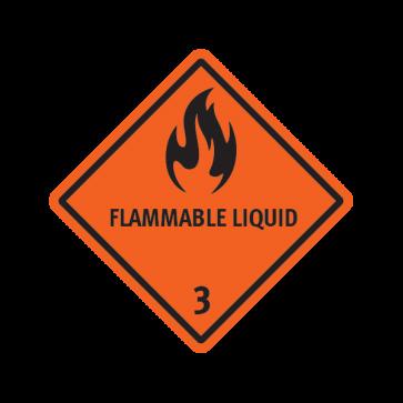 Flammable Liquid Orange Black 14251