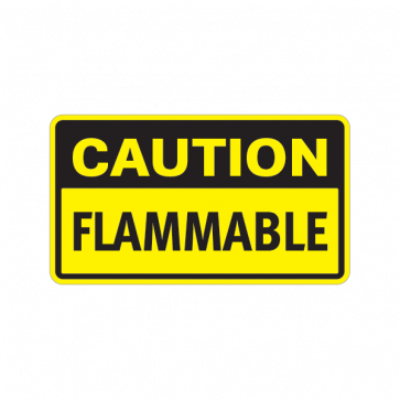 Caution Flammable 14314
