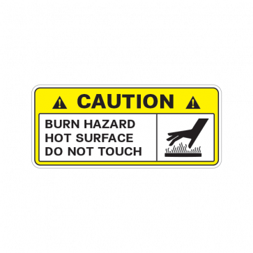 Caution Burn Hazard Hot Surface Do Not Touch 14322