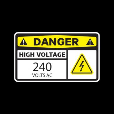 Danger High Voltage 240 Volts Ac 14334