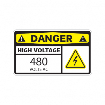 Danger High Voltage 480 Volts Ac 14337