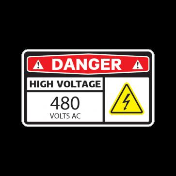 Danger High Voltage 480 Volts Ac 14342