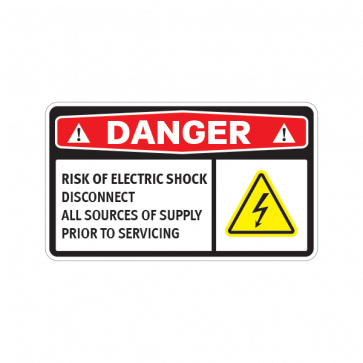 Danger Risk Of Electric Shock Disconnect All Sources Of Supply Prior To Servicing 14346