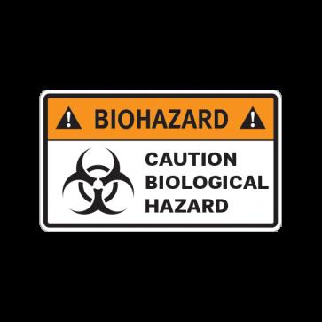 Biohazard Caution Biological Hazard 14385