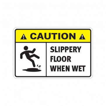 Caution Slippery Floor When Wet.  14409