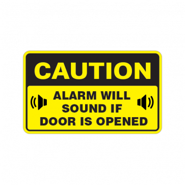 Caution Alarm Will Sound If Door Is Opened 14432