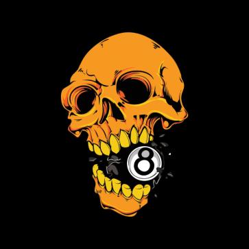 8 Ball Skull 15692