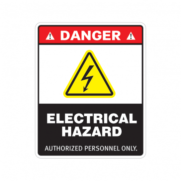Danger Electrical Hazard. Authorized Personnel Only. 18628