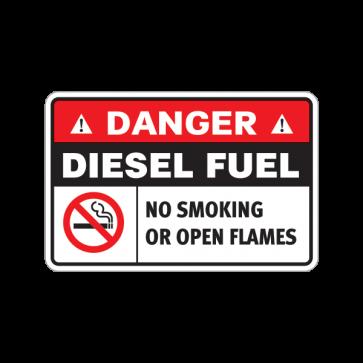 Danger Diesel Fuel. No Smoking. No Open Flames. 18635