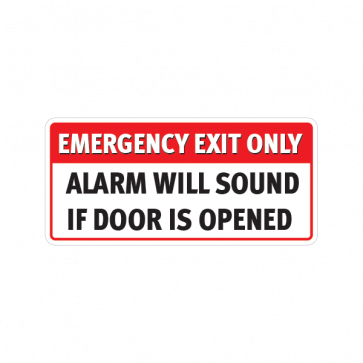 Emergency Exit Only Alarm Will Sound If Door Is Opened  18762