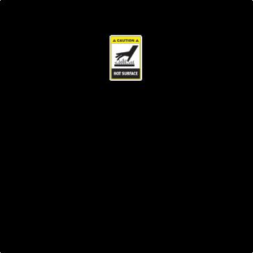 Caution Hot Surface 28263