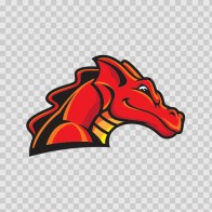 Red Dragon Head 00572