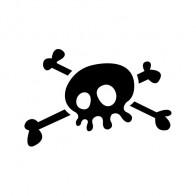 Crossbone Skull 00768