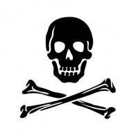 Crossbone Skull 00771