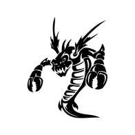 Dragon Lobster Tribal Creation 00874