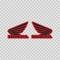 Pair Of Honda Wings Logo 01115