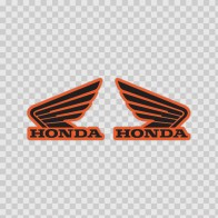 Pair Of Honda Wings Logo 01116