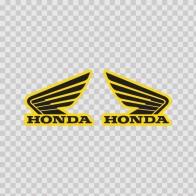 Pair Of Honda Wings Logo 01117