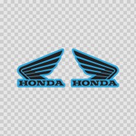 Pair Of Honda Wings Logo 01120