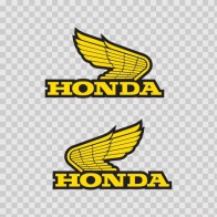 Pair Of Honda Wings Logo 01123