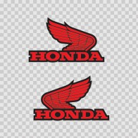 Pair Of Honda Wings Logo 01126