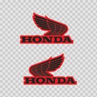 Pair Of Honda Wings Logo 01128