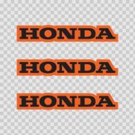 Honda Logo Orange Black 01134
