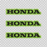 Honda Logo Green Black 01135