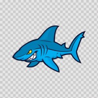 Cartoon Blue Shark 01763