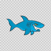 Cartoon Shark On Patrol 01773