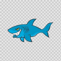 Cartoon Shark On Patrol 01774