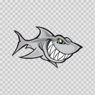 Cartoon Shark Smile 01787